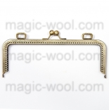 Рамочные замки, цепочки для сумок металлическая рамка (фермуар) 29*9см антик