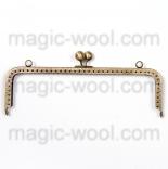 Рамочные замки, цепочки для сумок металлическая рамка (фермуар) 25*7см антик