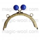 Рамочные замки, цепочки для сумок рамочный замок 12,5см*6,5см с синей застежкой