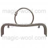 Рамочные замки, цепочки для сумок рамочный замок для сумки 21см никель с ручкой