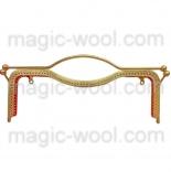 Рамочные замки, цепочки для сумок металлическая рамка (фермуар) 27*9см золото