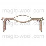 Рамочные замки, цепочки для сумок металлическая рамка (фермуар) 27*9см никель