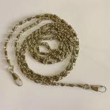 Рамочные замки, цепочки для сумок ажурная антик 118см