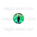 глазки для игрушек стеклянные реалистичные цвет №13