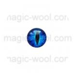 глазки для игрушек стеклянные реалистичные цвет №12