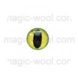 глазки для игрушек стеклянные реалистичные цвет №10