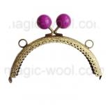 Рамочные замки, цепочки для сумок рамочный замок 12,5см*6,5см с застежкой пурпур
