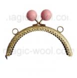 Рамочные замки, цепочки для сумок рамочный замок 12,5см*6,5см с розовой застежкой