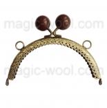 Рамочные замки, цепочки для сумок рамочный замок 12,5см*6,5см с застежкой шоколад