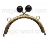 Рамочные замки, цепочки для сумок рамочный замок 12,5см*6,5см с черной застежкой