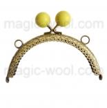 Рамочные замки, цепочки для сумок рамочный замок 12,5см*6,5см с желтой застежкой