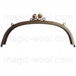 Рамочные замки, цепочки для сумок металлическая рамка 24,5*8см шоколад