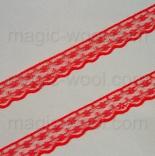 кружево полиэстер красное 20мм