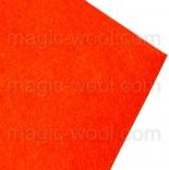 фетр 3мм 20смх30см полиэстер ярко оранжевый
