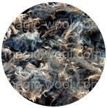 кудри и флис натуральные не окрашенные флис Romney оттенки темно серого с коричневыми концами