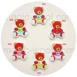 пуговицы декоративные медведь мультиколор 01