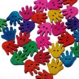 пуговицы декоративные ладошки цветные