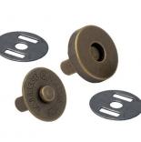 Замки, застежки, магниты магнитная кнопка 18мм антик