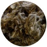 кудри и флис натуральные не окрашенные финиш коричневый меланж промытый фабрично