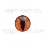 глазки для игрушек стеклянные 10мм цвет №14