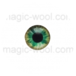 глазки для игрушек стеклянные реалистичные цвет №15