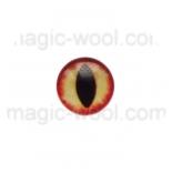 глазки для игрушек стеклянные реалистичные цвет №16