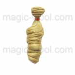 волосы для кукол крупный локон блонд №86
