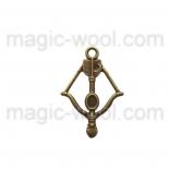 подвески металлические арбалет 34мм*24мм*3мм античная бронза