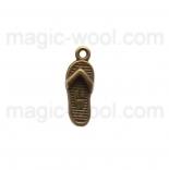 подвески металлические сандалии 21мм*8мм*3мм античная бронза