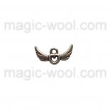 подвески металлические bird love angel 16мм*8мм античное серебро