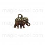 подвески металлические слон 13мм*12мм античная бронза