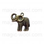 подвески металлические слон 25мм*25мм античная бронза