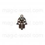 подвески металлические ладошка 20мм*14мм античная бронза