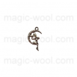 подвески металлические ангел на луне 25мм*14мм античное серебро