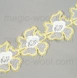 кружево желтые цветы на хлопке 5,5см