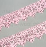 кружево макраме розовое 45мм