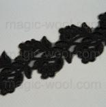 кружево металлизированное на сетке черное 55мм