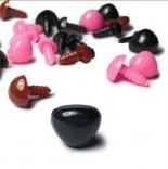 носы для игрушек пластиковый 6мм*8мм черный