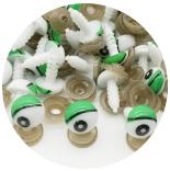 глазки для игрушек мультипликационные 12мм