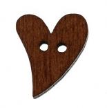 пуговицы декоративные сердце 19мм*17см