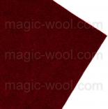 фетр 2мм 20см*30см натуральная 100% шерсть бордо
