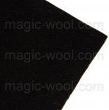 фетр 2мм 20см*30см натуральная шерсть черный