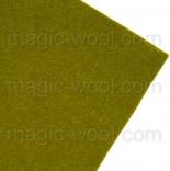 фетр 2мм 20см*30см натуральная шерсть олива