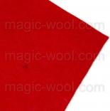 фетр 2мм 20см*30см натуральная шерсть красный