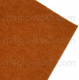фетр 2мм 20см*30см натуральная шерсть корица