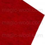 фетр 2мм 20см*30см натуральная шерсть клубника