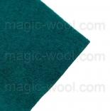 фетр 3мм 20см*30см натуральная шерсть морская волна