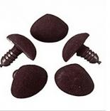 носы для игрушек бархатный 10мм*11мм коричневый