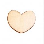 пуговицы декоративные сердечко деревянные 12мм*15мм
