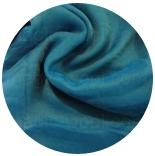 шарфы шелковые окрашенные однотонные и с переходами насыщенная бирюза